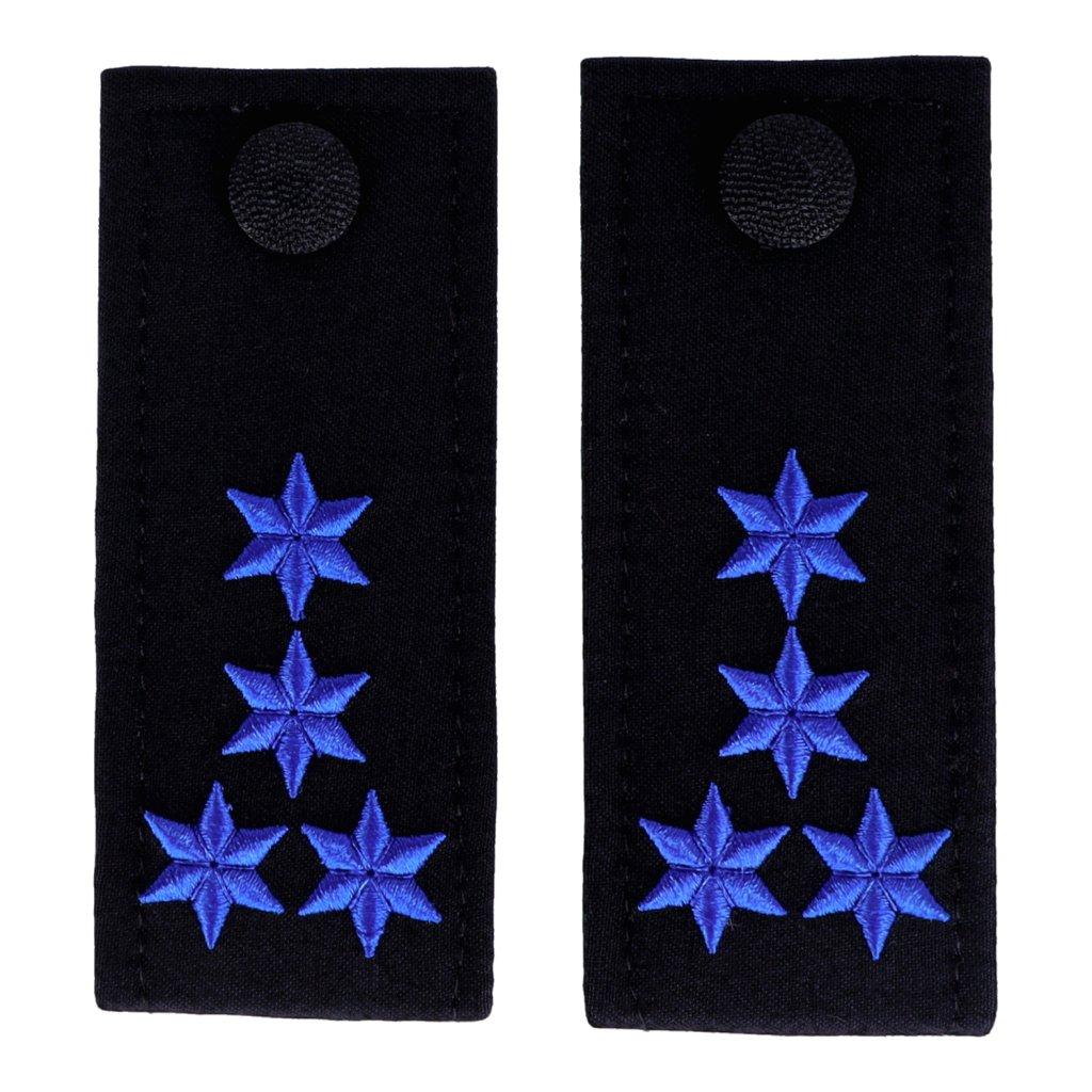 Schulterschlaufen ZOLL 4 Sterne blau