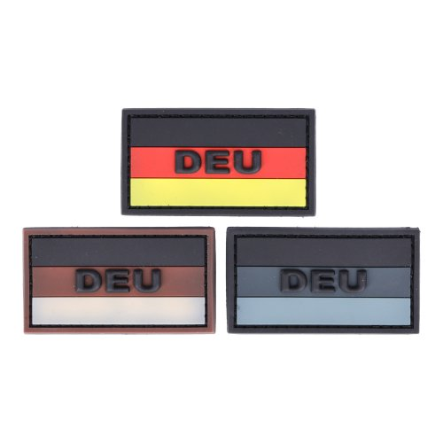 Rubberpatch Flagge Deutschland DEU 3 x 5,5cm