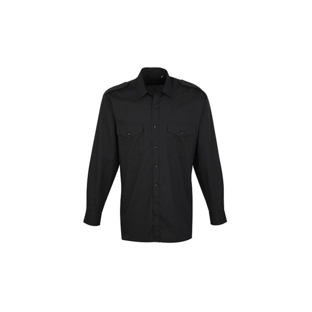 Uniform-Diensthemd 35 /% Baumwolle langarm 65 /% Poly